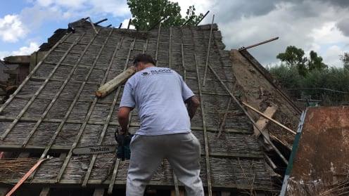 rieten dak slopen